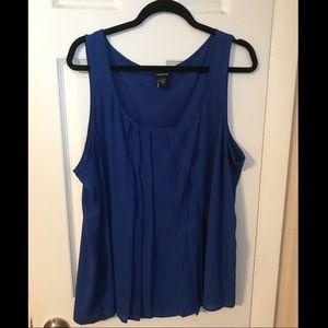 Blue pleated front tank. Torrid size 2